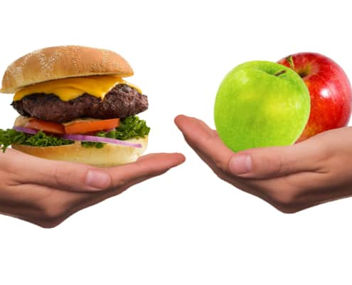 Natürliche Lebensmittel vs. Fast Food