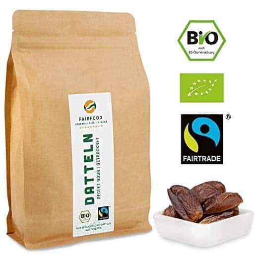 Bio Fairtrade getrocknete Datteln