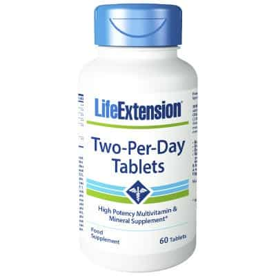 Two per Day Lifeextension Europe Multivitamin